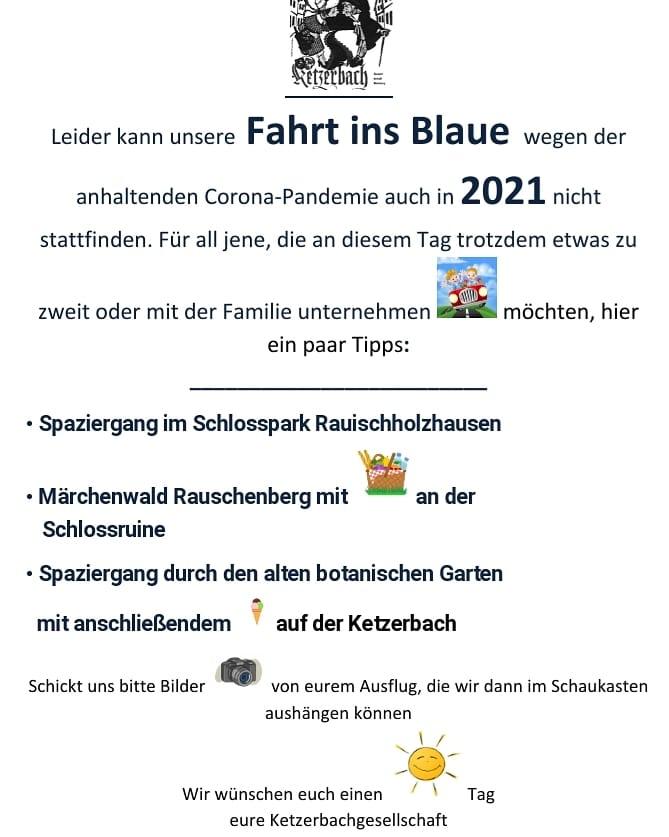 Fahrt ins Blaue 2021